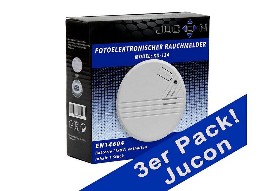 Rauchmelder, Jucon (3er Set) in weiß