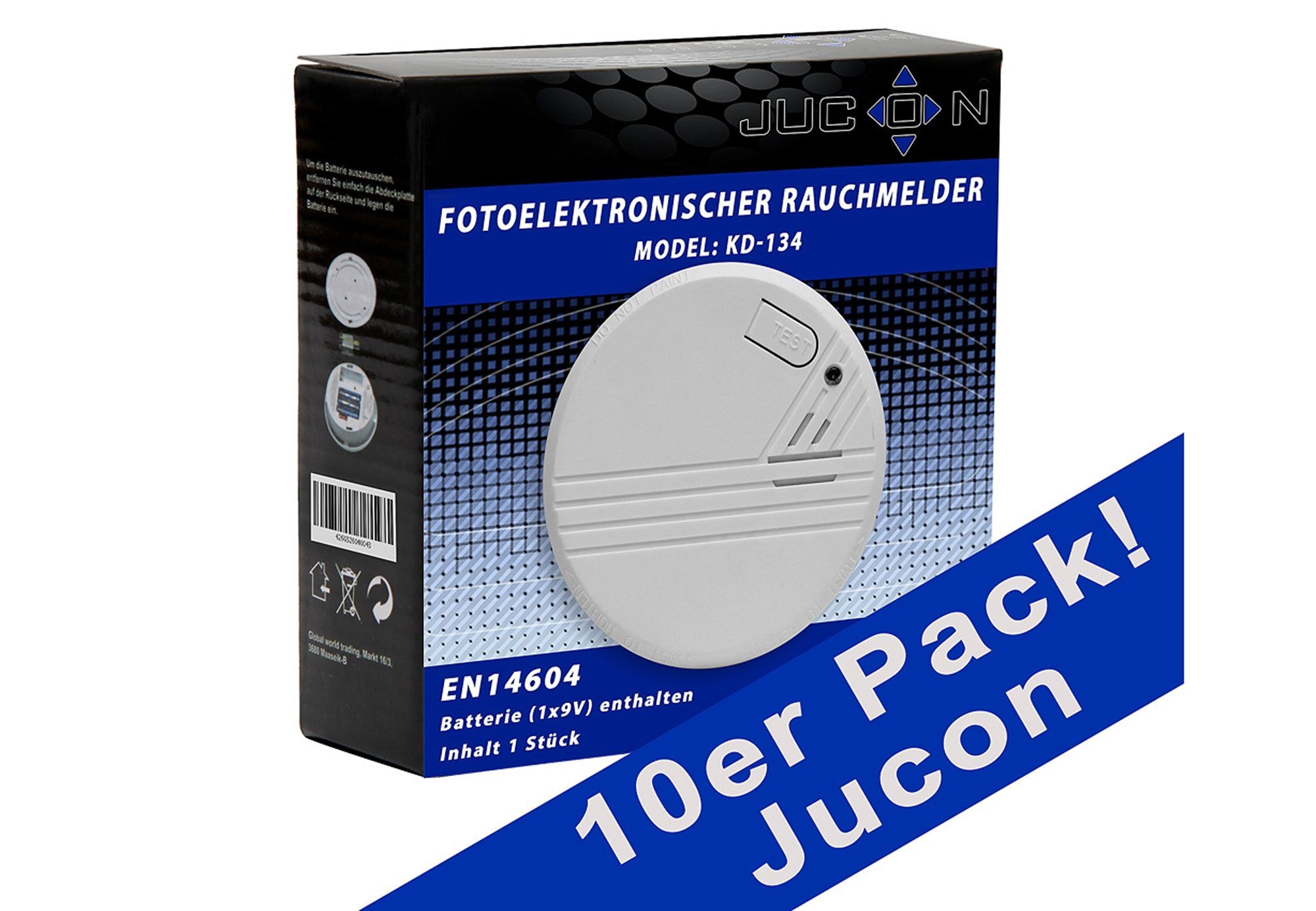 Rauchmelder, Jucon (10er Set)