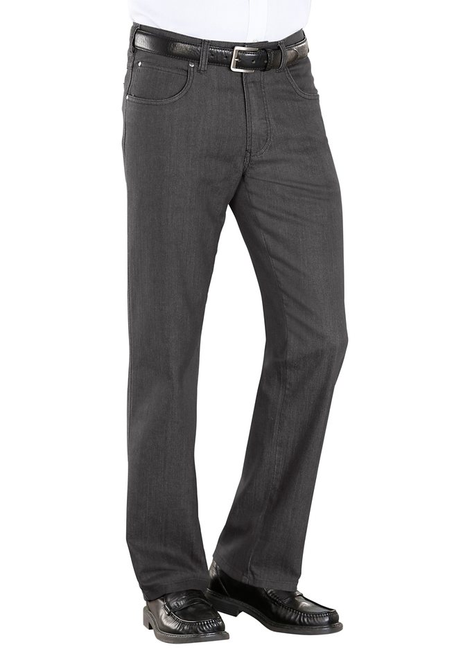 Classic Basics Jeans in 5-Pocket-Form in grau