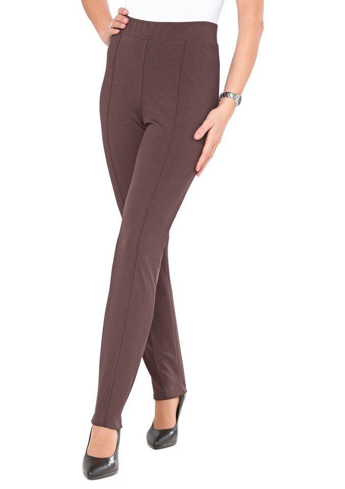 Classic Basics Jersey-Hose aus weich fließender und bewegungselastischer Qualität in mokka