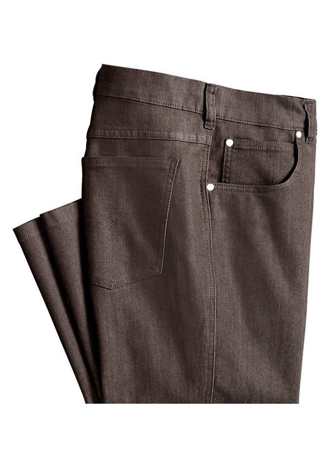 Classic Basics Jeans in 5-Pocket-Form in braun