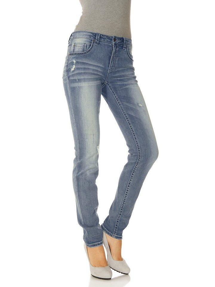 Boyfriend-Jeans in bleached