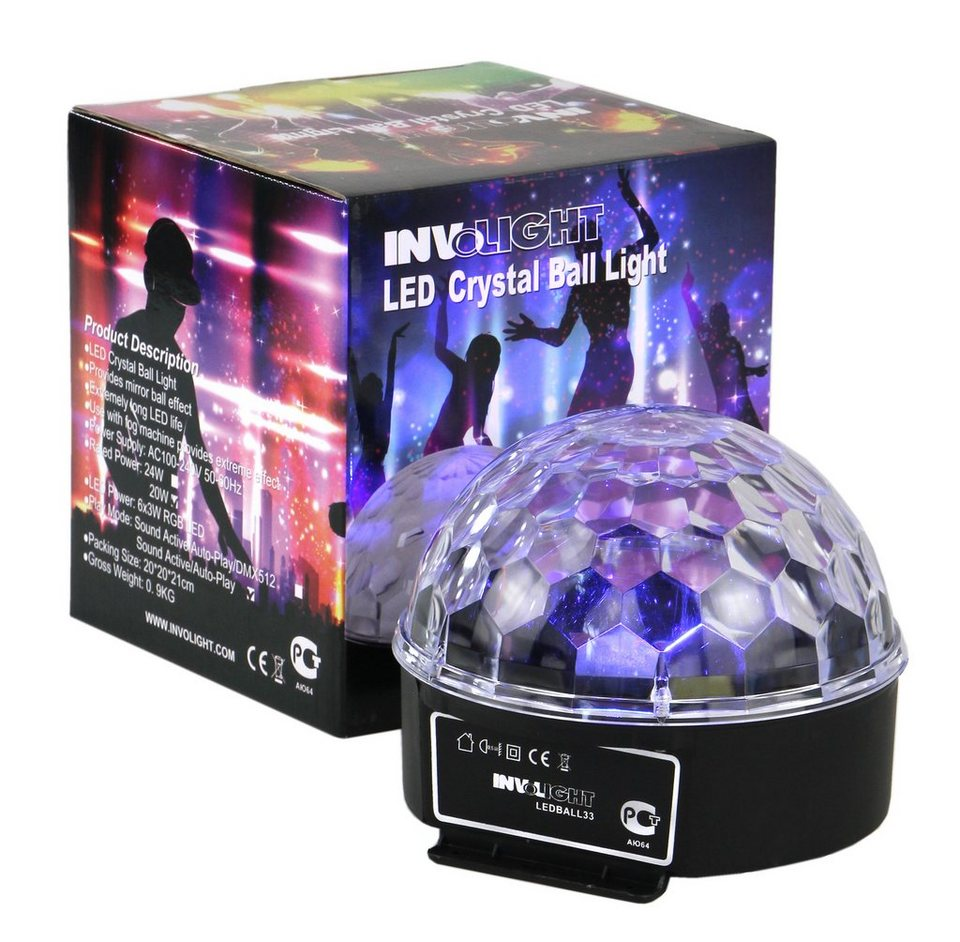 Involight Discolicht, LED-Lichteffekte »LEDBALL33« in schwarz