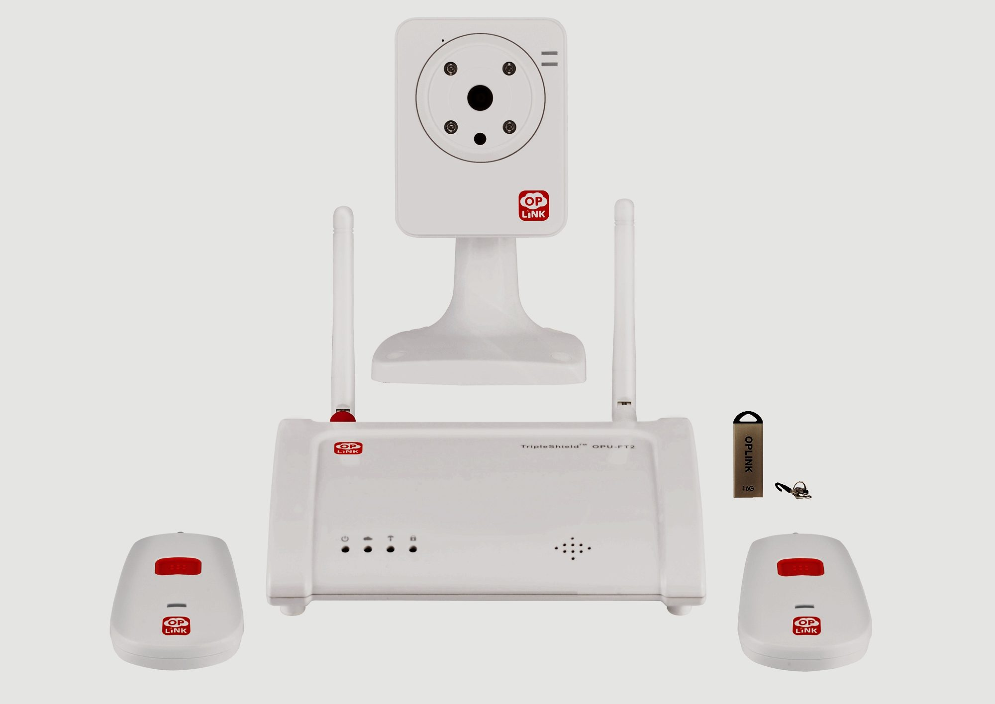 OPLINK Smart Home Security Überwachung Lösung »Connected Care™-Paket C1S2«