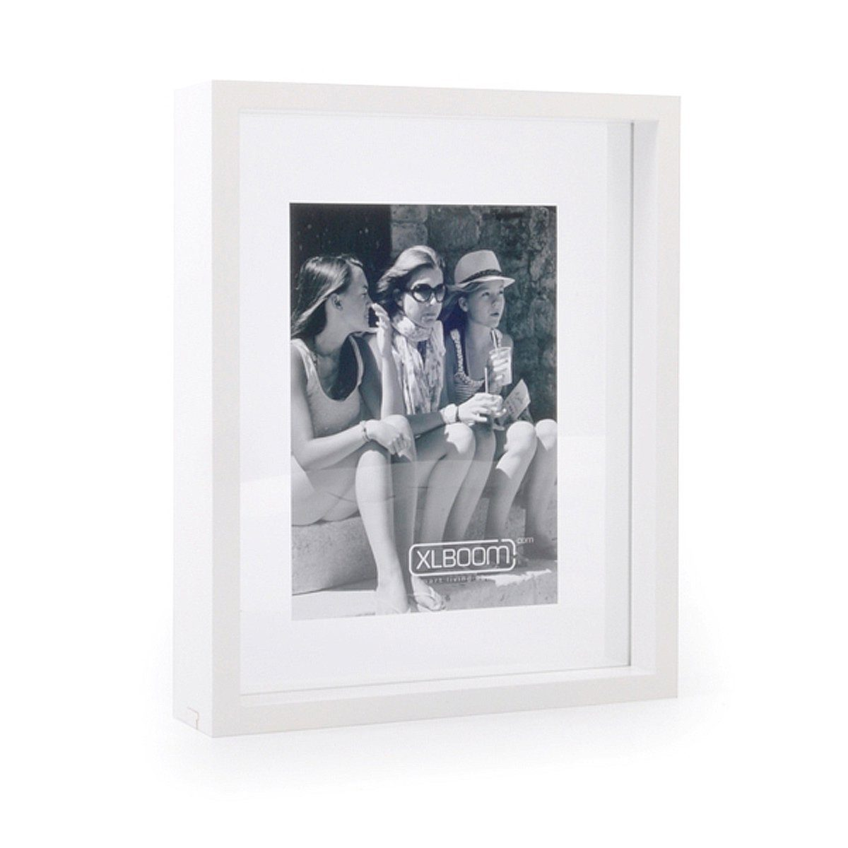 XLBoom XLBOOM Bilderrahmen FLOATING BOX, 20 x 25 cm, weiß