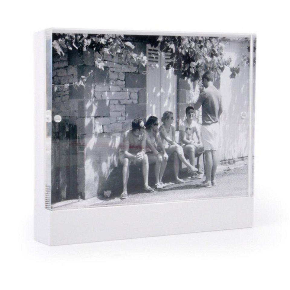 XLBoom XLBOOM Bilderrahmen SIENA 10 x 15 cm, weiß in weiß