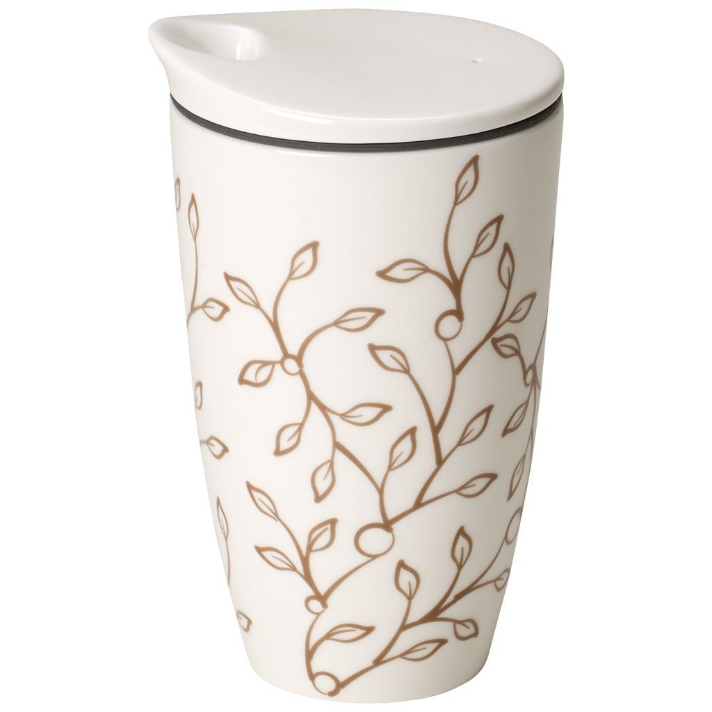 VILLEROY & BOCH Coffee to Go Becher »Caffè Club Floral caramel«