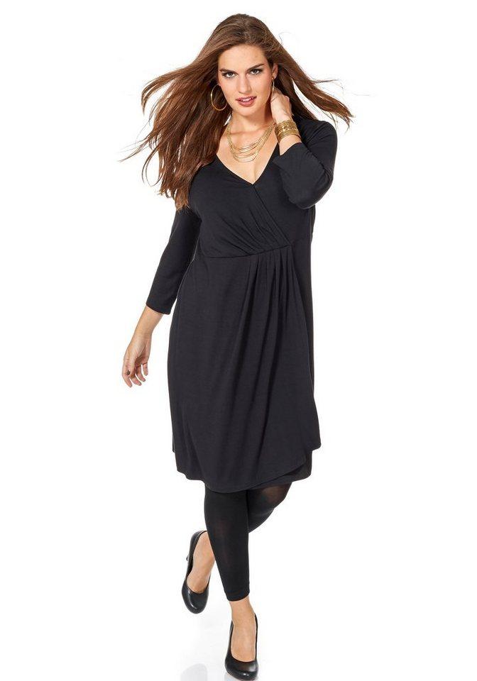 sheego Trend Jerseykleid in schwarz