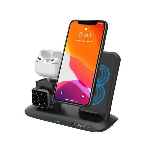 Terratec »ChargeAir All Desk Pro« Ladestation (Kabellose Ladestation für Smartphones, Apple AirPods (Gen. 1,2 u Pro) und Apple Watch, induktives Ladepad)
