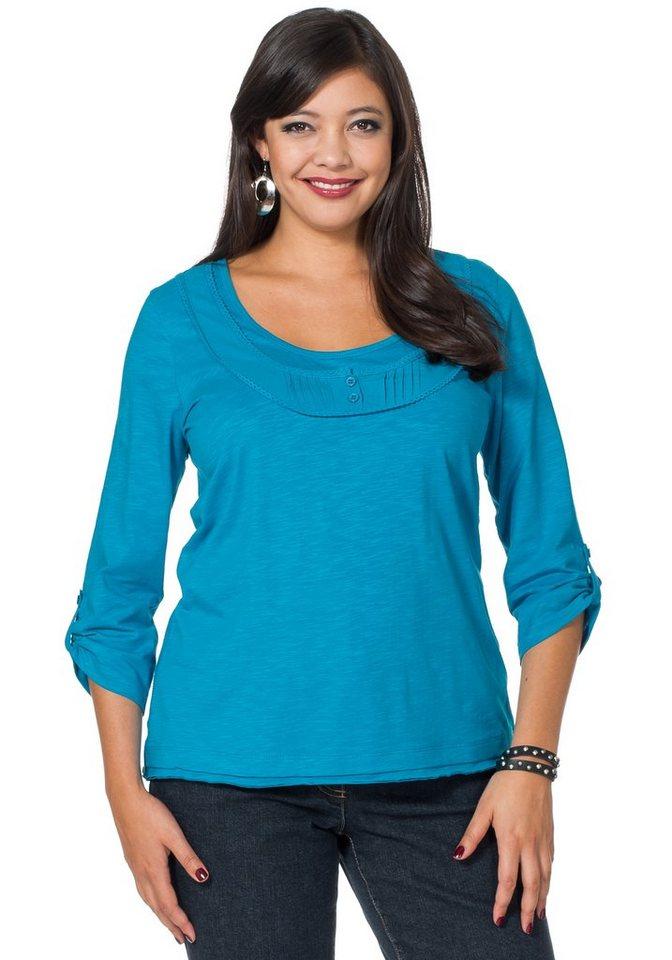 sheego Style Romantisches 2-in-1-Shirt in türkis