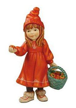 Sammlerfigur, »Britta mit Äpfeln«, Goebel in bunt