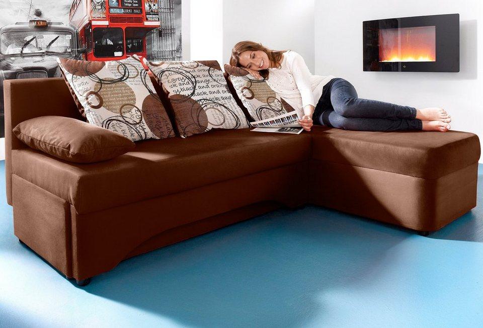 inosign polsterecke mit bettfunktion kaufen otto. Black Bedroom Furniture Sets. Home Design Ideas
