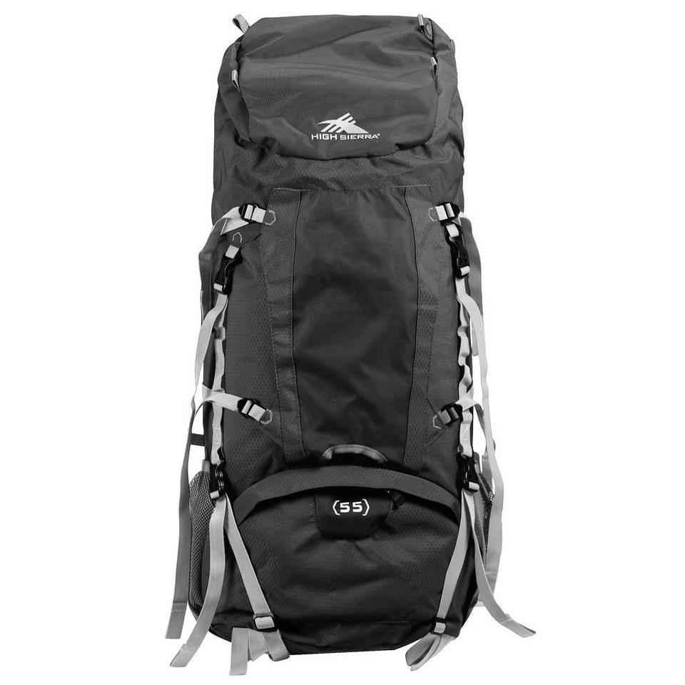 High Sierra Frame Packs Waucoba 55 Rucksack 74 cm in black-black-silverco