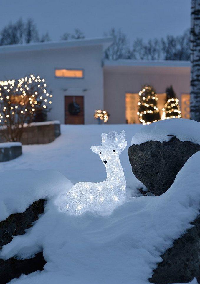 LED Acryl, »Rentier«, Konstsmide in weiß