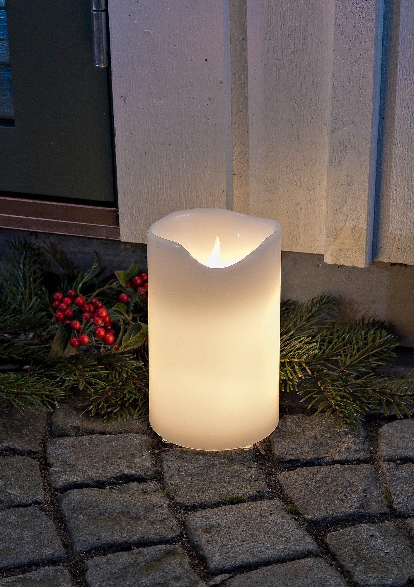 LED Echtwachskerze für außen, »warm weiß«, Konstsmide