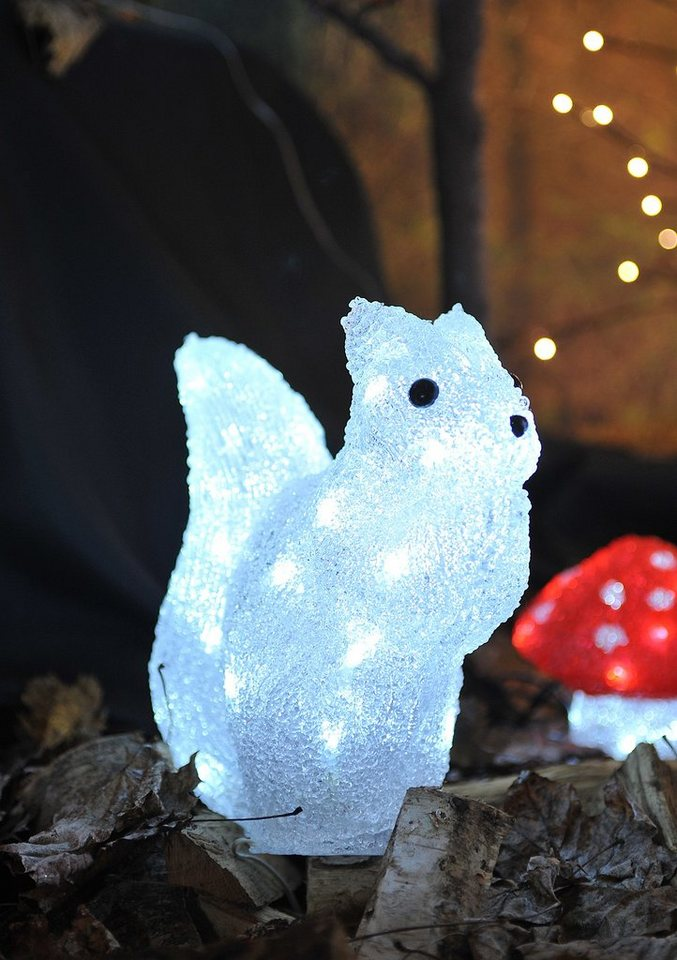 LED Acryl, »Eichhörnchen«, Konstsmide in weiß