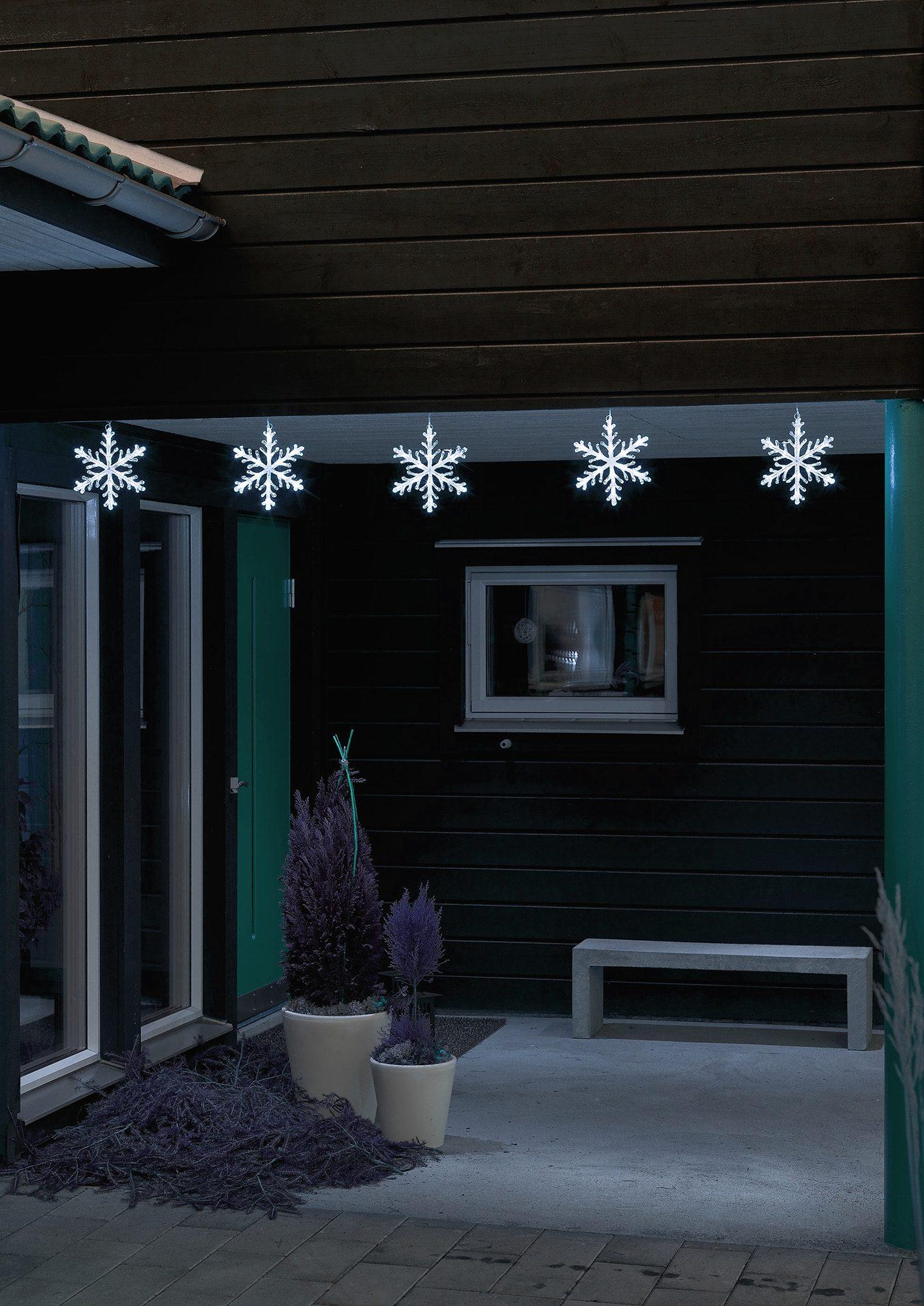 LED Acryl Lichtervorhang, »Schneeflocke«, Konstsmide