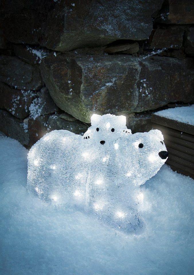 LED Acryl, » Eisbären, Mutter mit Kind«, Konstsmide in weiß