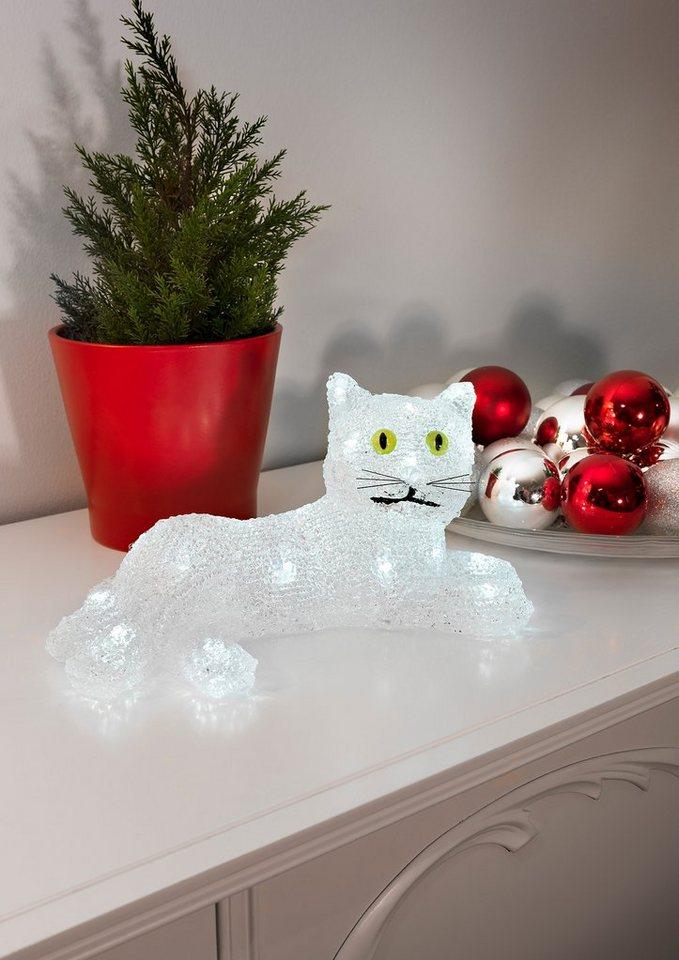 LED Acryl, »Katze«, Konstsmide in weiß