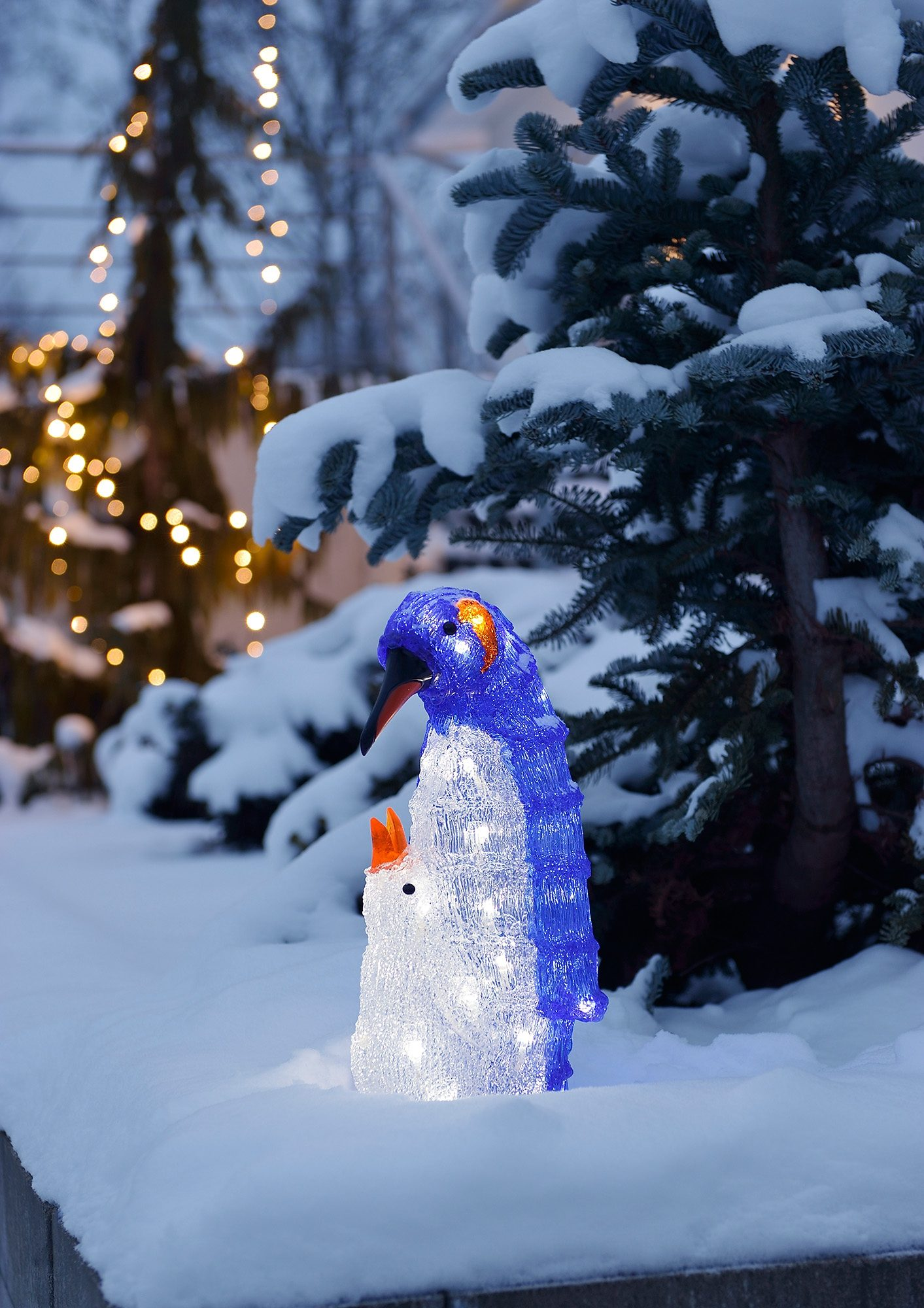 LED Acryl, »Pinguine, Mutter mit Kind«, Konstsmide