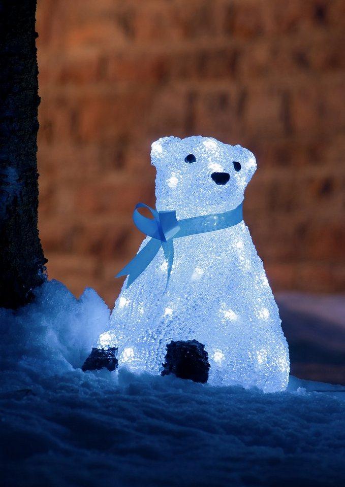 LED Acryl, »Eisbär«, Konstsmide in weiß