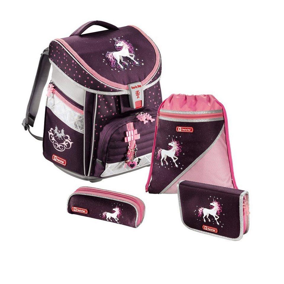 Step by Step Schulranzen Set Mädchen Ranzen Set COMFORT »Einhorn Unicorn« in Pink