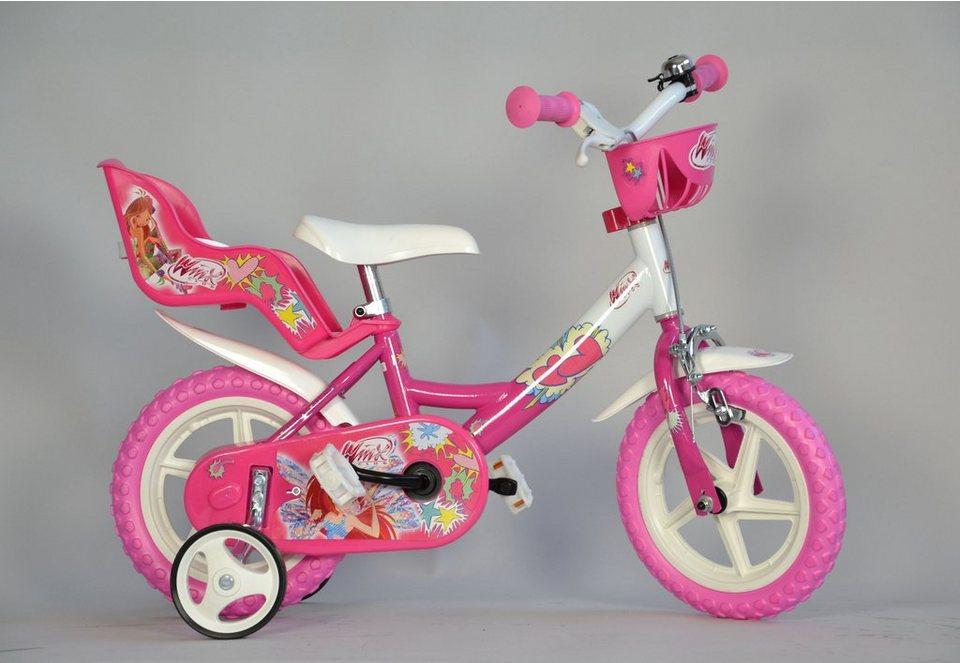 Kinderrad, Dino, »Winx«, erhältlich als 12-Zoll, 14-Zoll oder 16-Zoll in pink-weiß