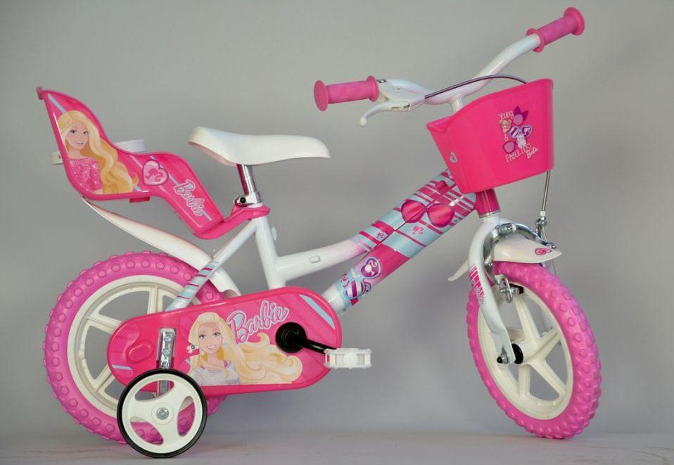 kinderfahrrad dino fahrr der barbie in 12 14 oder 16. Black Bedroom Furniture Sets. Home Design Ideas