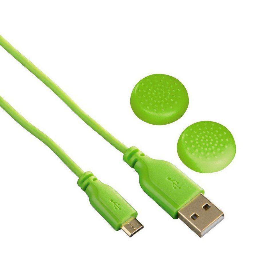 Hama Controller-Ladekabel Super Soft für Playstation 4, Grün in Grün