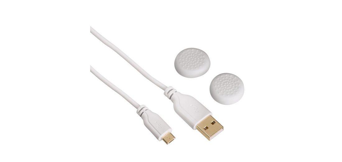 Hama Controller-Ladekabel Super Soft für Playstation 4, Weiß