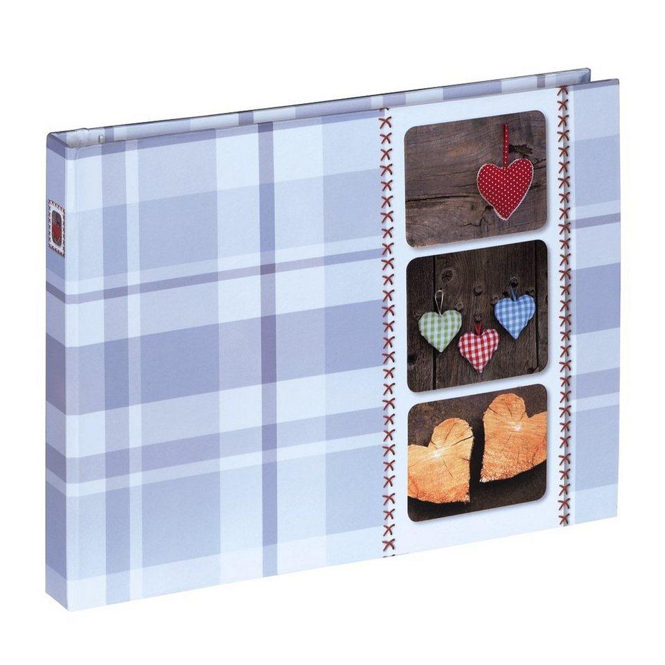 Hama Foto- und Gäste-Album Isny, 25x19 cm, 40 weiße Seiten, Blau in Blau