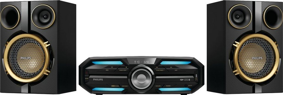 Philips FX25 Minianlage, Bluetooth, NFC, 1x USB in schwarz