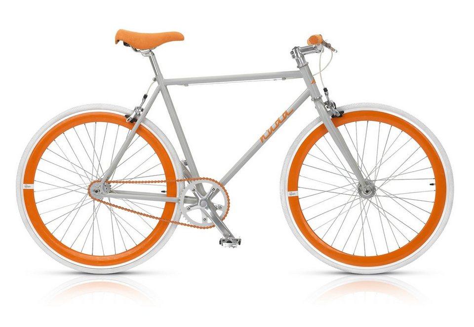 Fixie Singlespeed Fahrrad, 28 Zoll, 1-Gang (gear), »Nuda 571«, MBM in grau-orange