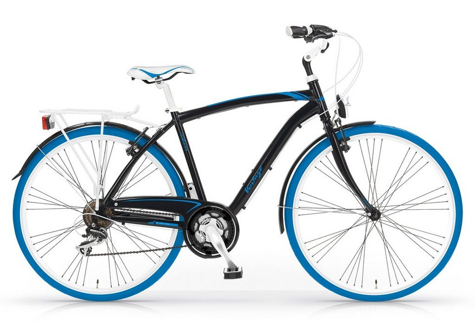 Trekkingbike Herren, 28 Zoll, 21-Gang Shimano, »Vintage 834«, MBM in schwarz/blau