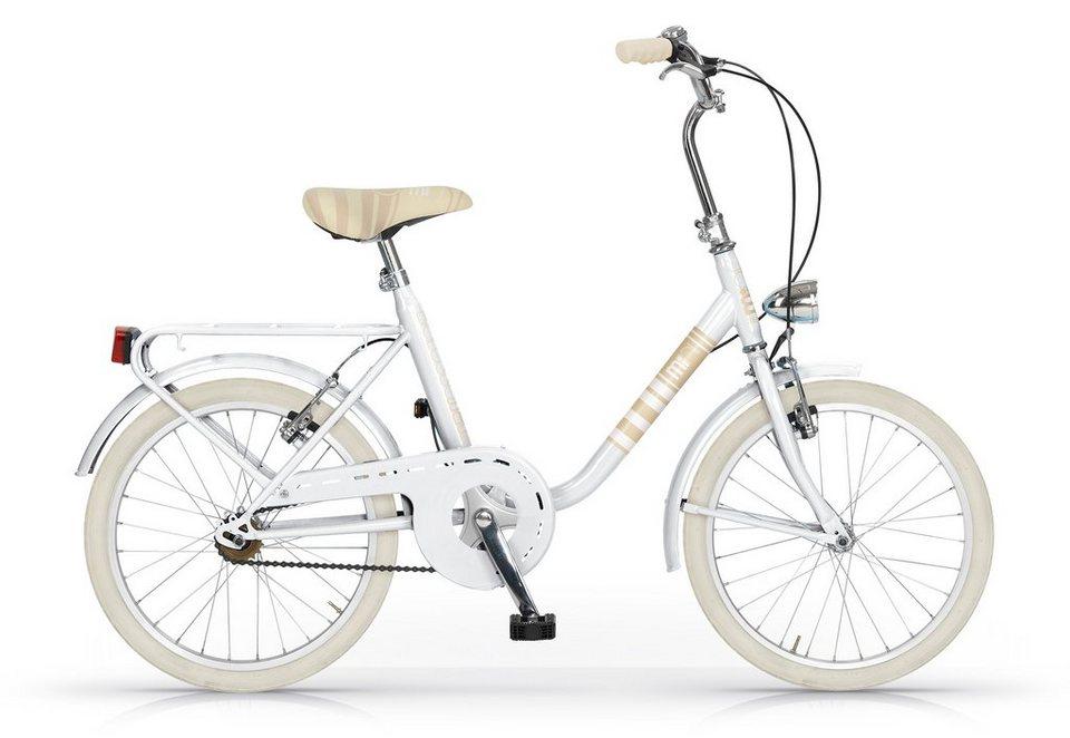 Mini-Bike Fahrrad, 20 Zoll, 1-Gang , »Modell 567«, MBM in weiß