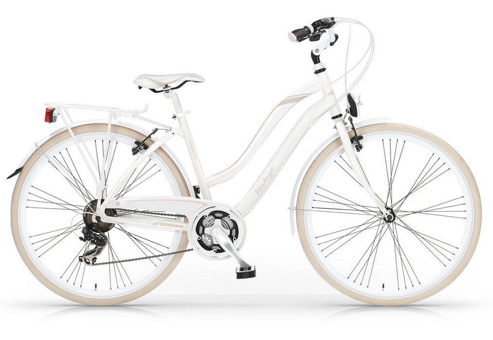 Trekkingbike Damen, 28 Zoll, 21-Gang Shimano, »Vintage 834«, MBM in weiss/beige