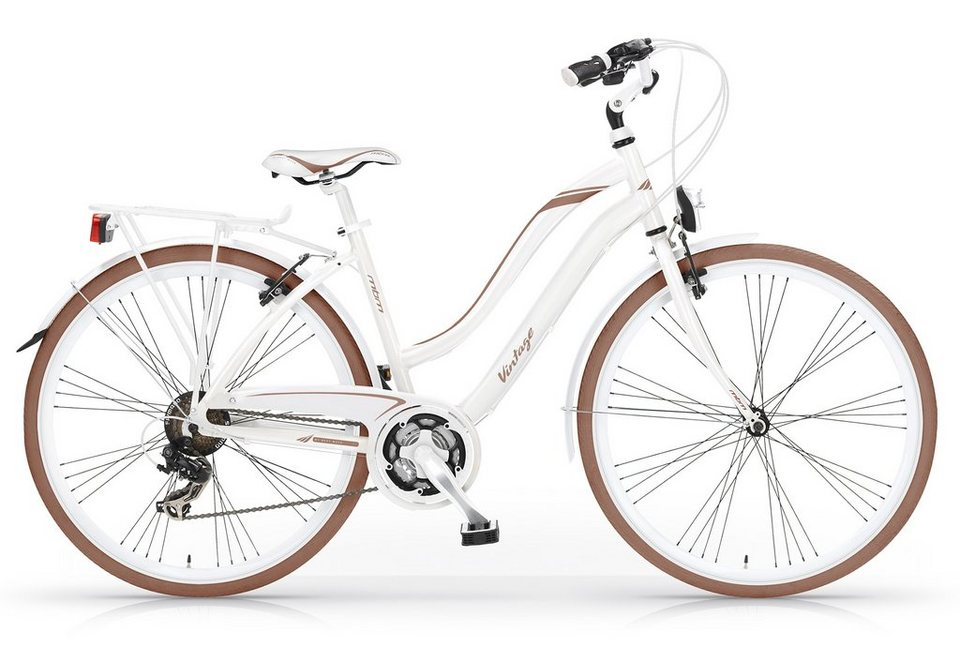 Trekkingbike Damen, 28 Zoll, 21-Gang Shimano, »Vintage 834«, MBM in weiss/braun