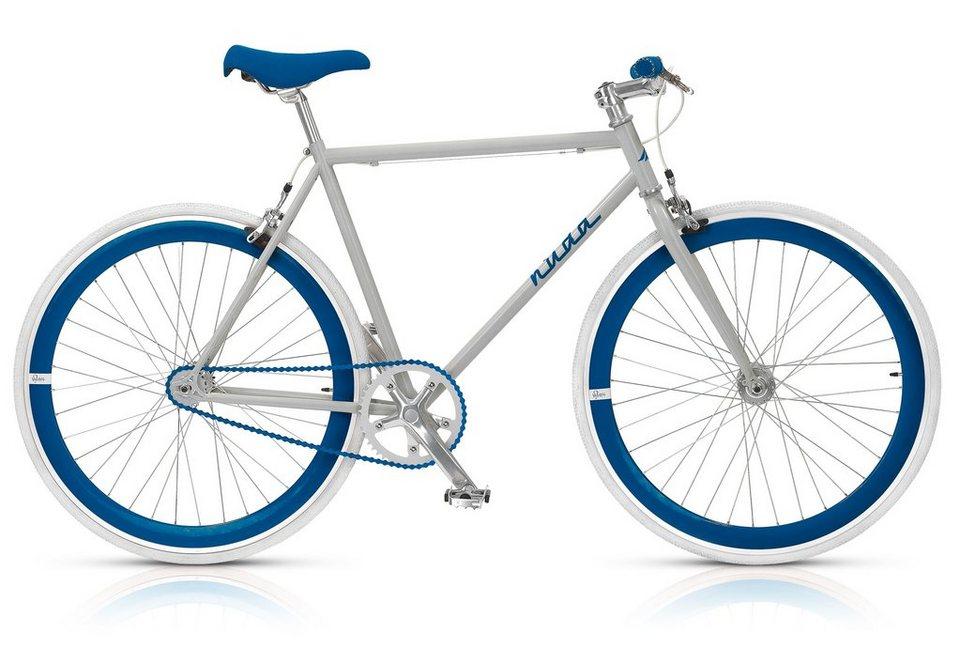 Fixie Singlespeed Fahrrad, 28 Zoll, 1-Gang (gear), »Nuda 571«, MBM in grau-blau