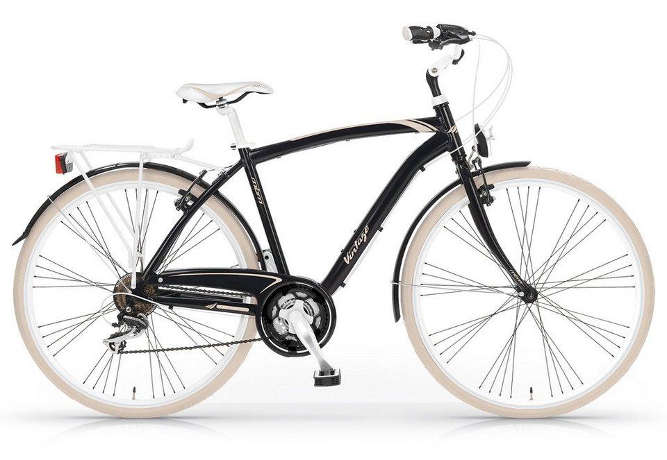 Trekkingbike Herren, 28 Zoll, 21-Gang Shimano, »Vintage 834«, MBM in schwarz/beige