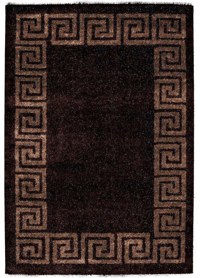 Hochflor-Teppich, Lalee, »Sedef 277«, Höhe 35 mm in Braun