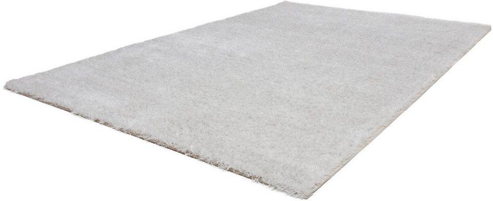Hochflor-Teppich, Lalee, »Elmas 700«, Höhe 35 mm in Weiß