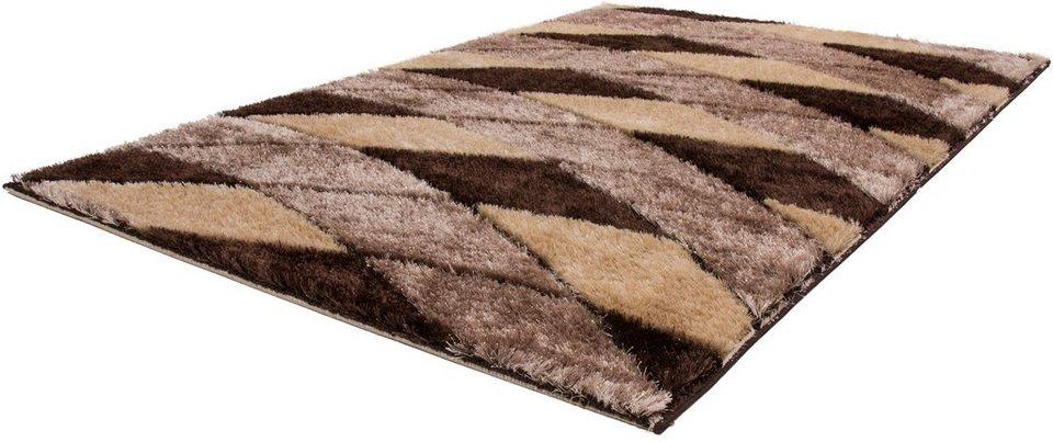 Hochflor-Teppich, Lalee, »Sedef 276«, Höhe 35 mm in Beige
