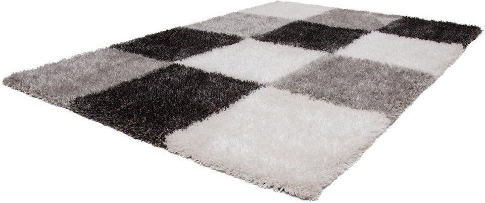 Hochflor-Teppich, Lalee, »Style 702«, Höhe 35 mm, handgearbeitet in Anthrazit