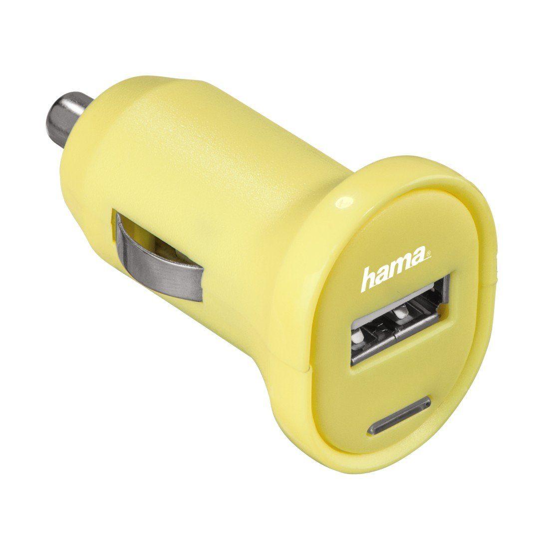 Hama USB-Ladegerät Picco, 12 V, 1 A, Gelb
