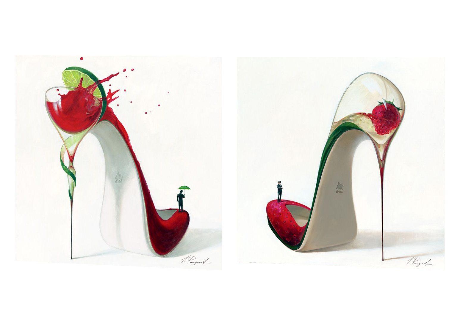 Premium Picture, Wandbilder, »Frizzante und Cosmopolitan«, 2x 30/30 cm