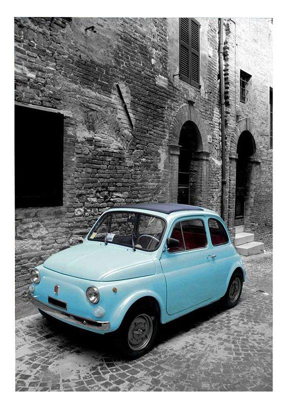 Wandbild, »Vintage 500«, Premium Picture in blau