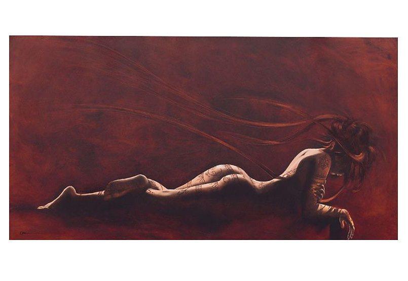 Wandbild, »Henna«, Premium Picture in rot