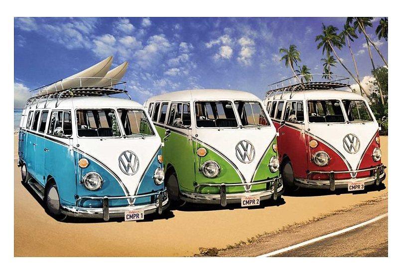 Wandbild, »VW Bus«, Premium Picture in bunt