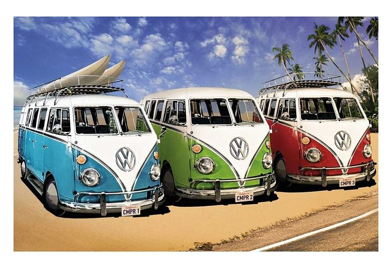 Wandbild, »VW Bus«, Premium Picture