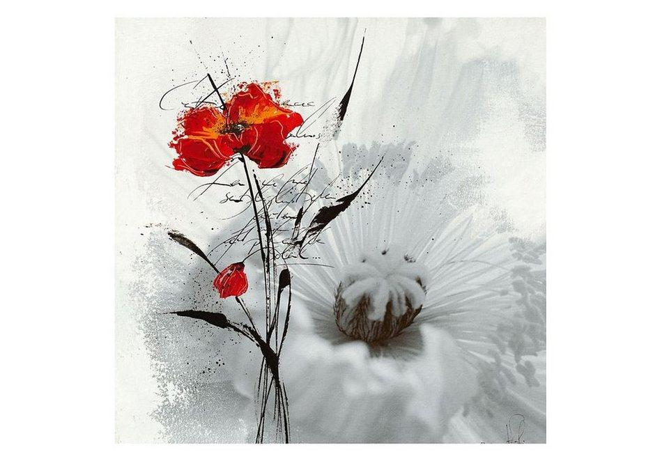 Wandbild, »Mohn«, Premium Picture in rot
